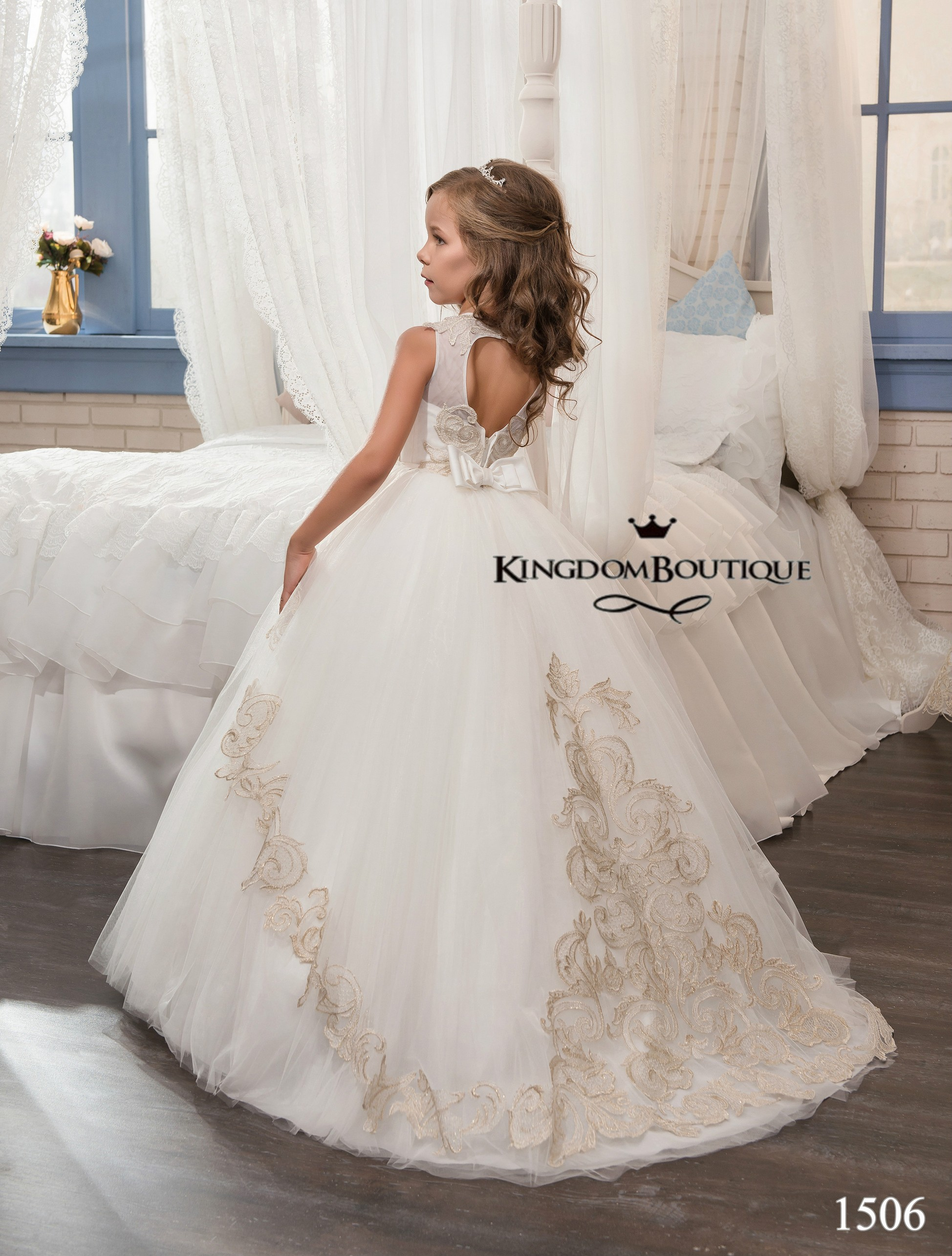 Flower Girl Dress 16 1506 Kingdom Boutique